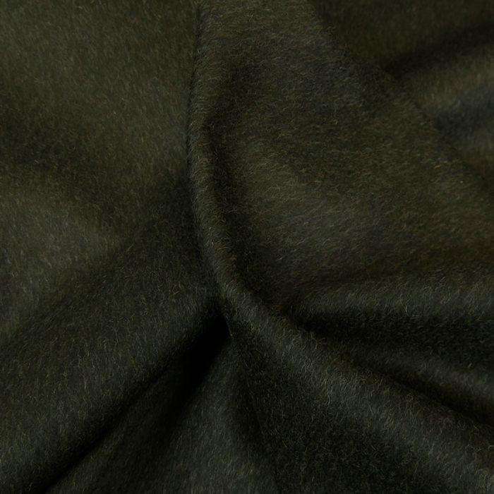 Tissu lainage véritable Loden - vert x 10 cm