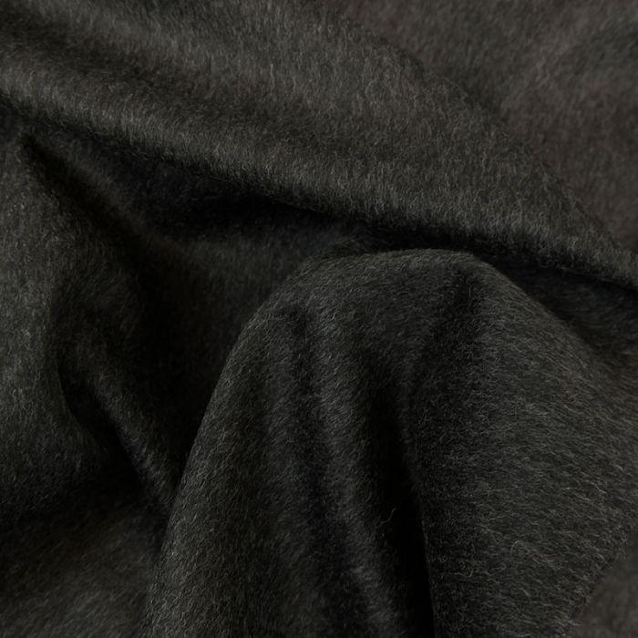 Tissu lainage véritable Loden - gris foncé x 10 cm