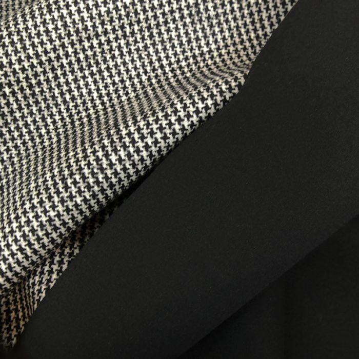 Tissu lainage néoprène pied de poule haute couture x 10 cm