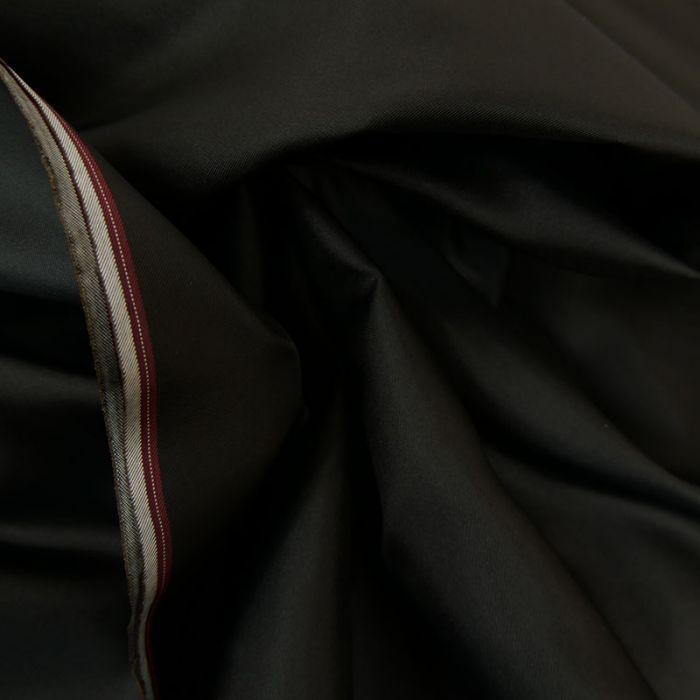 Tissu doublure soie cupro - noir x 10 cm