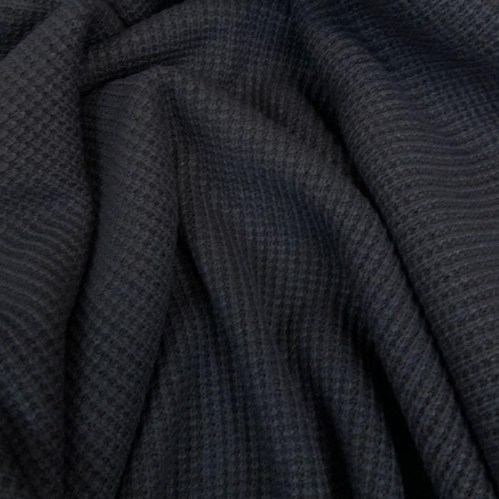 Tissu maille côtelé - anthracite  x 10cm