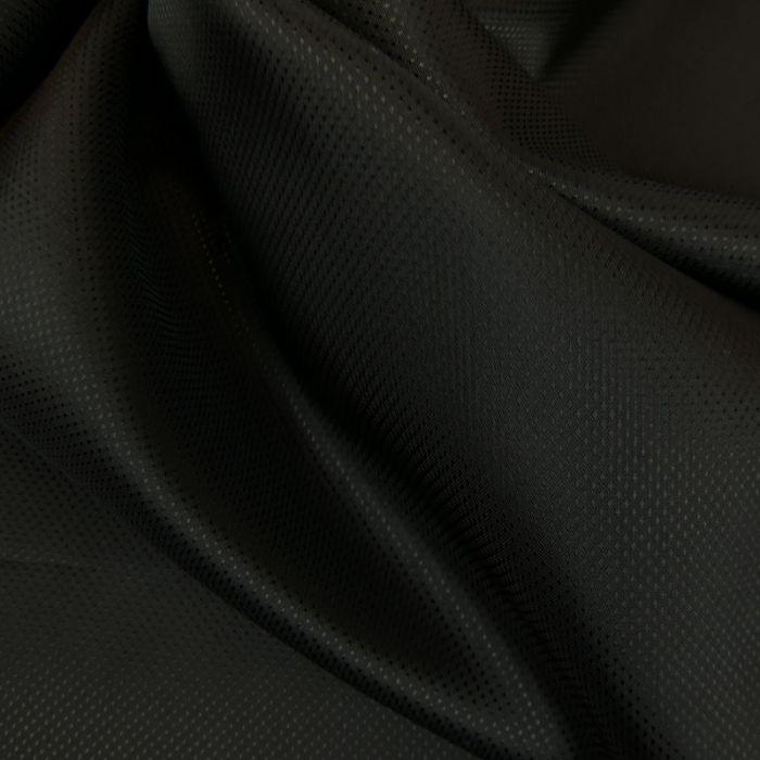 Tissu doublure viscose pointillisme - noir x 10 cm