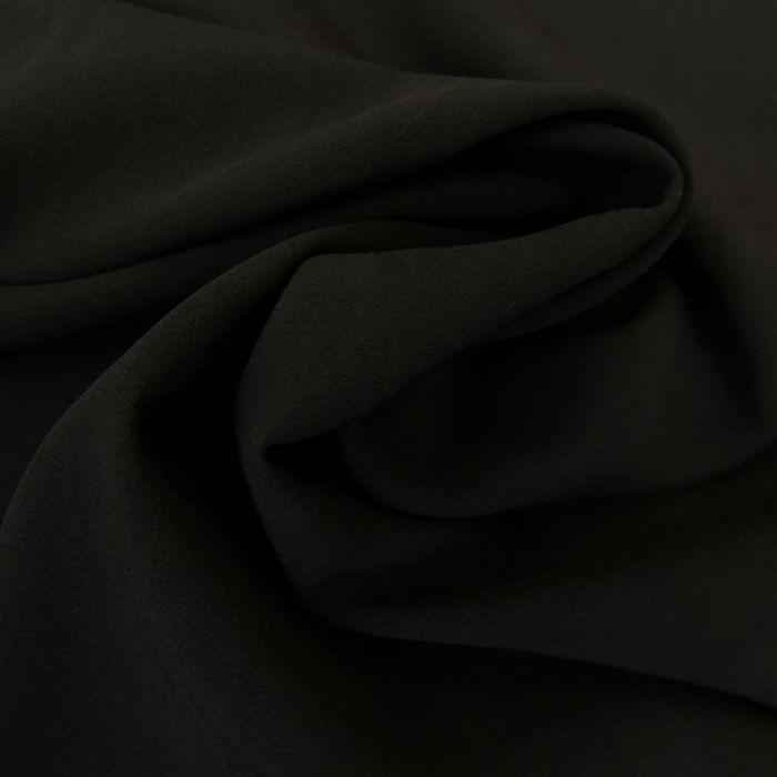 Tissu viscose uni - noir x 10 cm