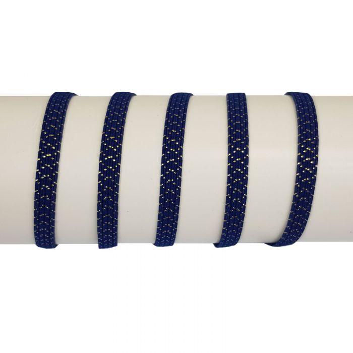 Elastique côtelé lurex 6 mm x 10 cm
