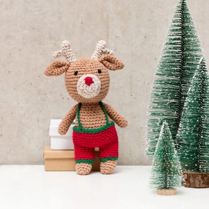Kit crochet amigurumi Ricorumi - renne noël