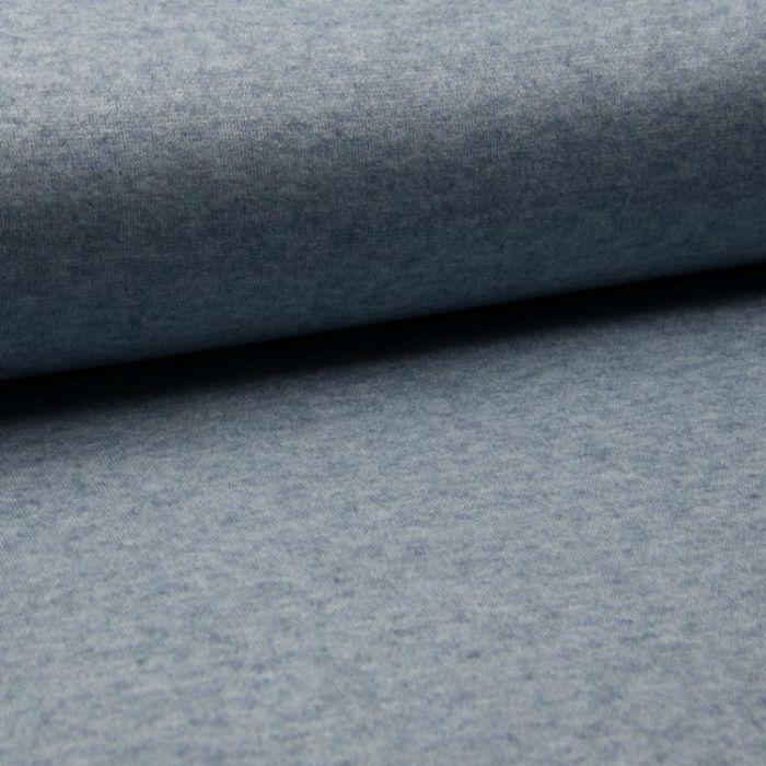 Tissu jersey maille - bleu jeans x 10 cm