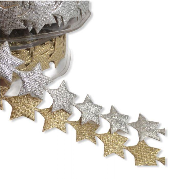 Guirlande étoiles autocollantes 20 mm x 10 cm