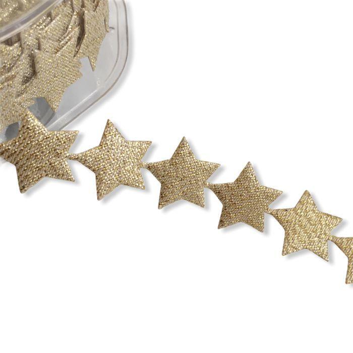 Ruban guirlande étoiles autocollantes x 10 cm