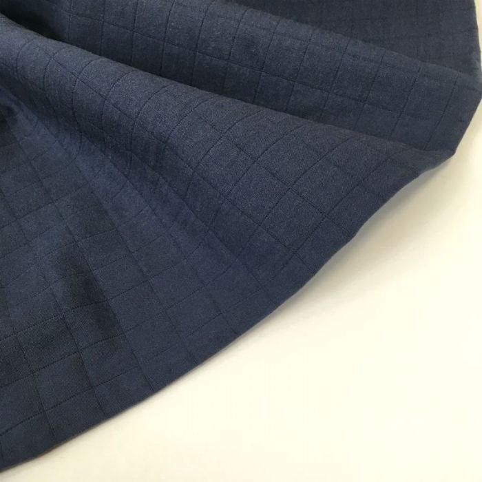 Tissu matelassé Taiyo bleu navy - France Duval Stalla x 10 cm