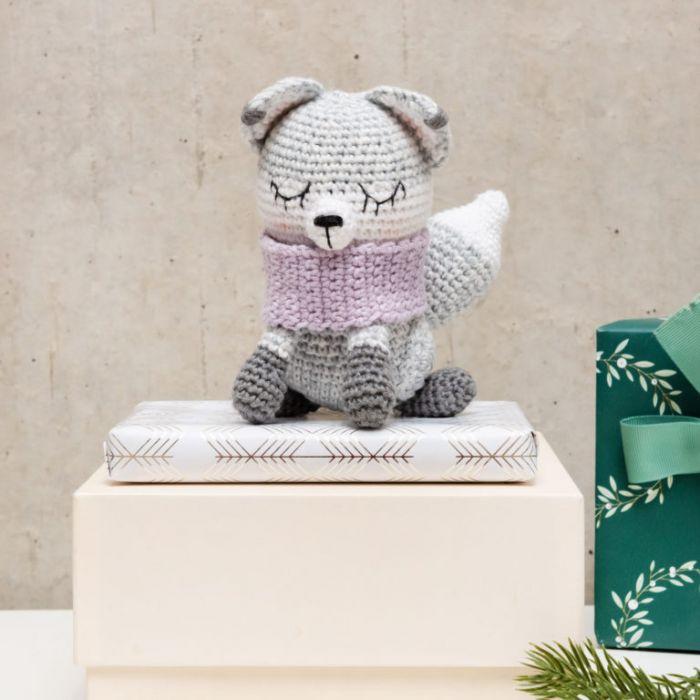 Kit crochet amigurumi Ricorumi - renard polaire