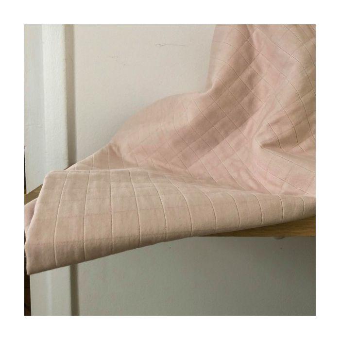 Tissu matelassé Tayio nude - France Duval Stalla x 10 cm