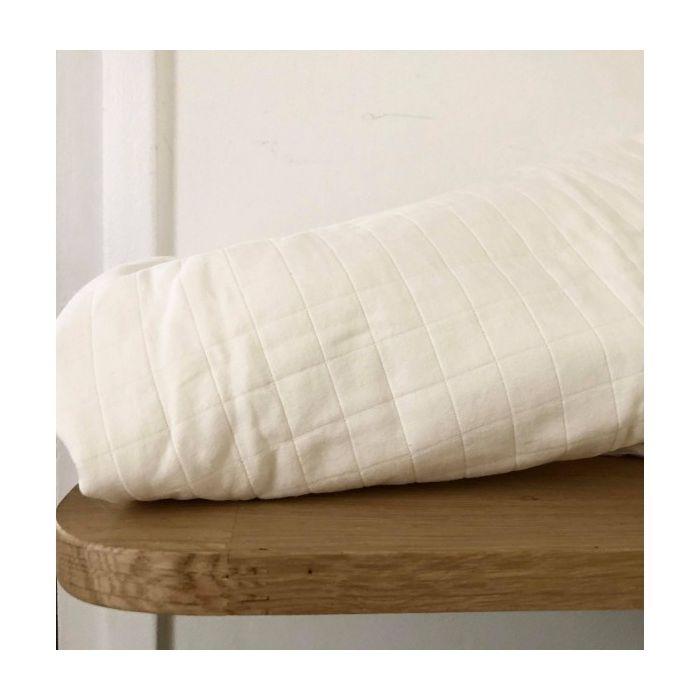 Tissu matelassé Taiyo blanc - France Duval Stalla x 10 cm
