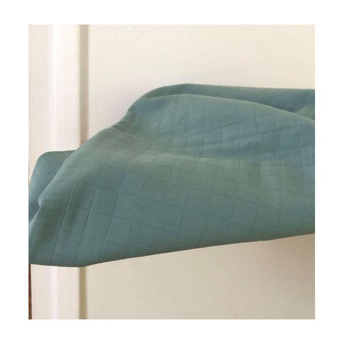 Tissu matelassé Tayio vert - France Duval Stalla x 10 cm