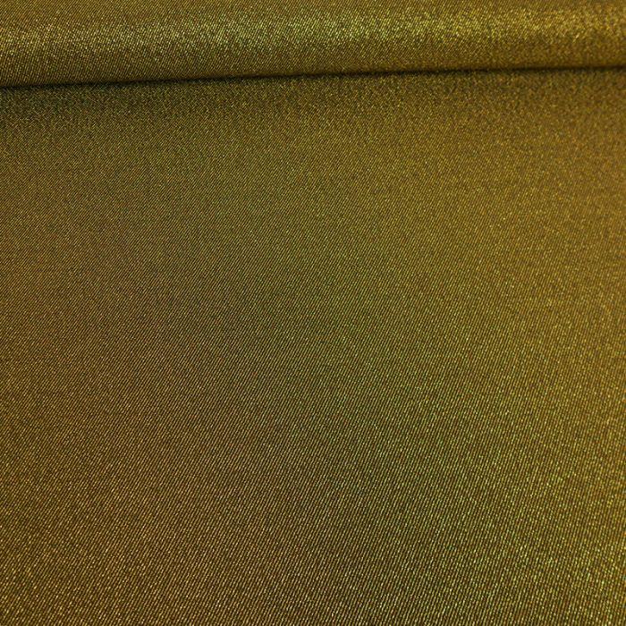 Tissu polyester stretch doré x 10 cm