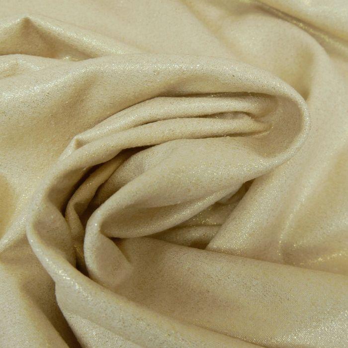 Tissu soie lamé - doré x 10 cm