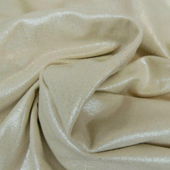 Tissu soie lamé - argent x 10 cm