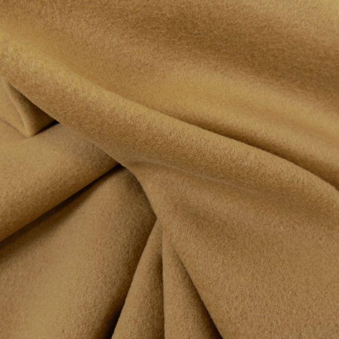 Tissu laine et cachemire sepia - haute couture x 10 cm