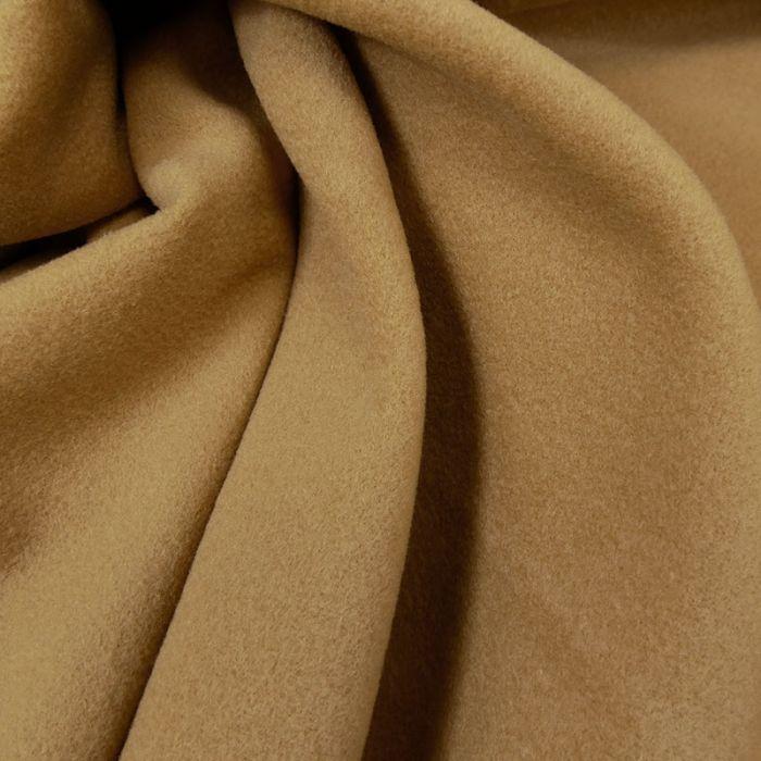 Tissu lainage cachemire sepia - haute couture x 10 cm