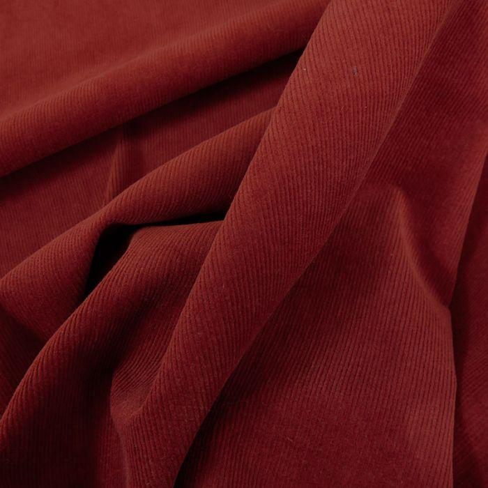 Tissu velours milleraies stretch - terracotta x 10 cm