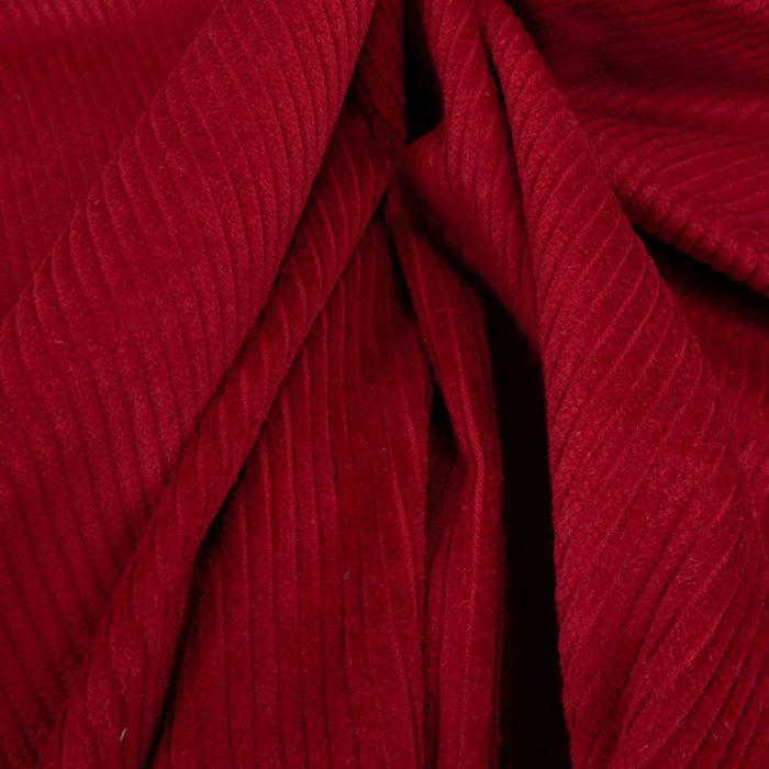 Tissu velours côtelé - rouge foncé x 10 cm