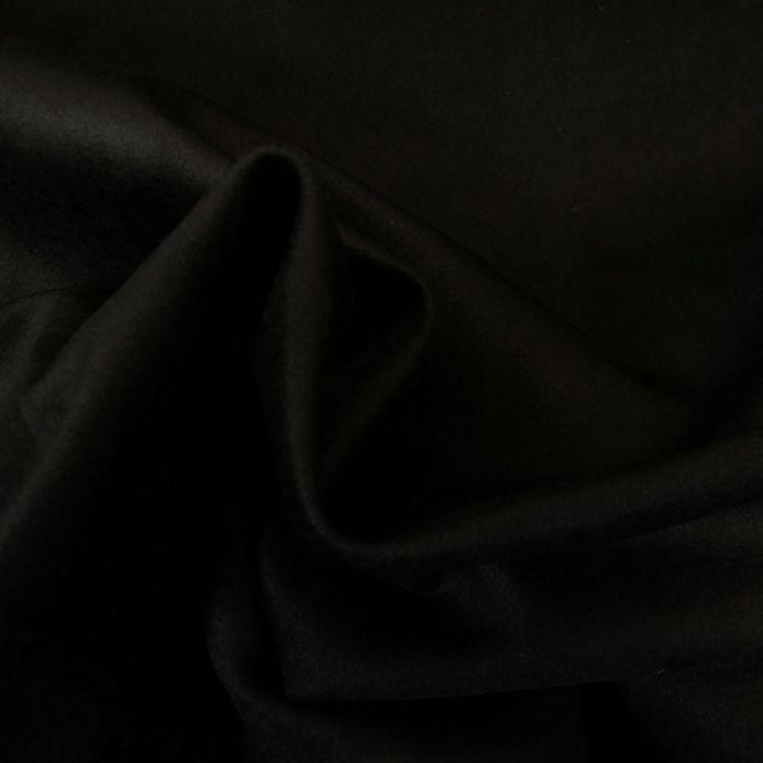Tissu suède manteau noir - haute couture x 10 cm
