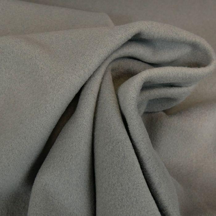 Tissu laine et cachemire gris - haute couture x 10 cm