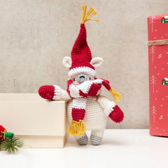 Kit crochet amigurumi Ricorumi - ours polaire
