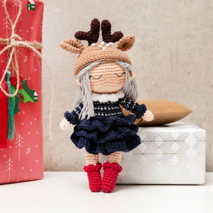 Kit crochet amigurumi Ricorumi - poupée de noël