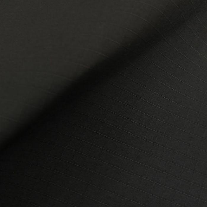 Tissu coton ciré waterproof carreaux - noir x 10 cm