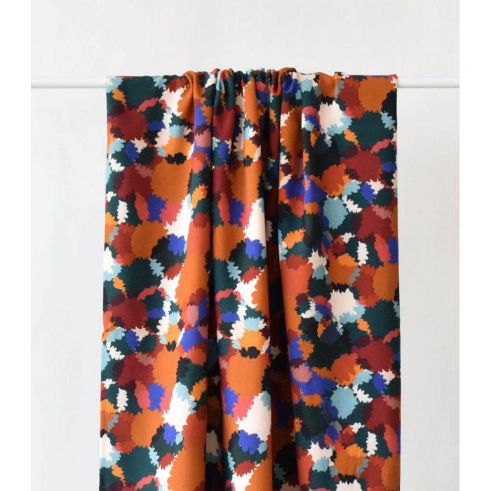 Tissu viscose Bouquet d'automne - Cousette x 10 cm