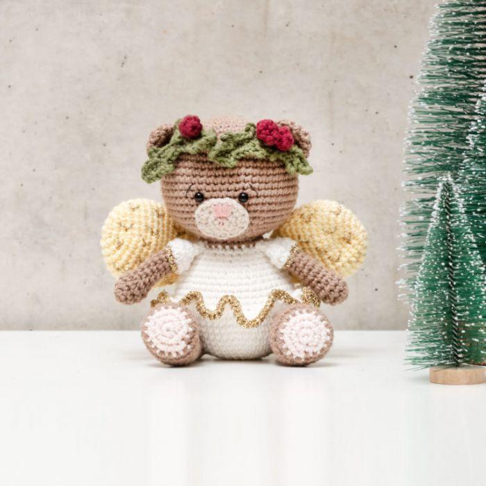 Kit crochet amigurumi Ricorumi - ange ourson