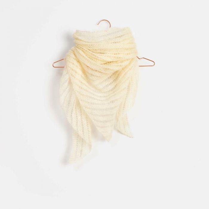 Kit tricot : châle ajouré en mohair et soie - Rico design