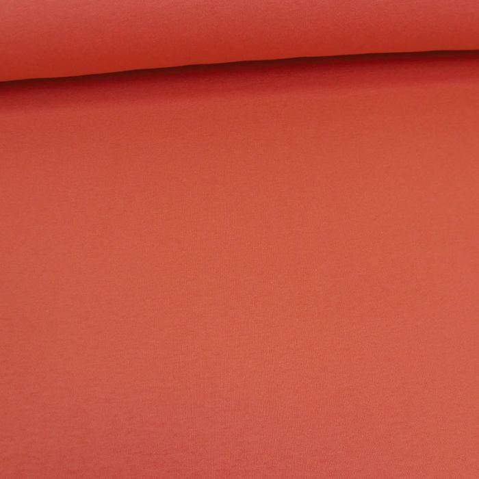 Tissu molleton sweat - corail x 10 cm