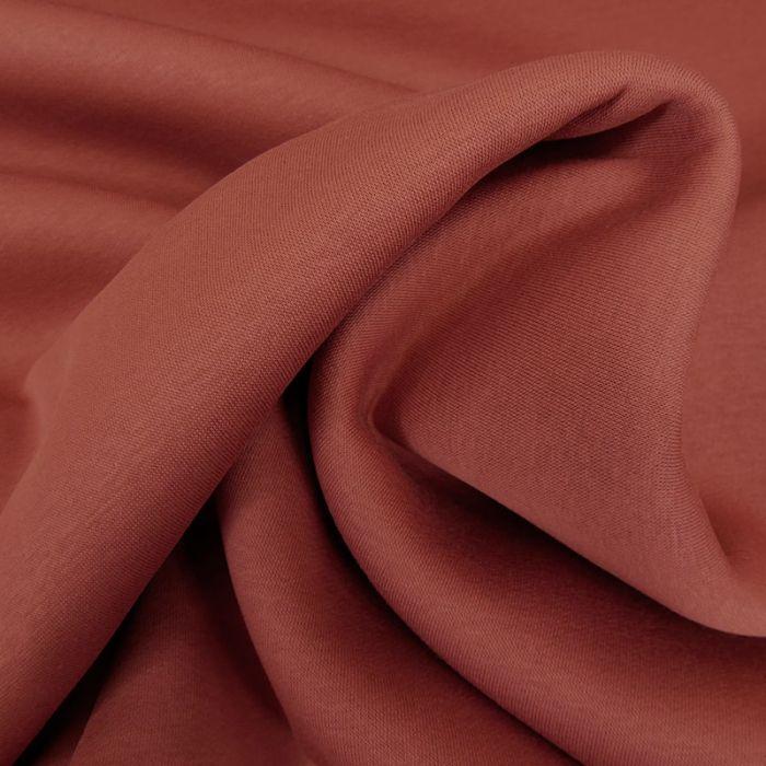 Tissu molleton sweat - terracotta x 10 cm