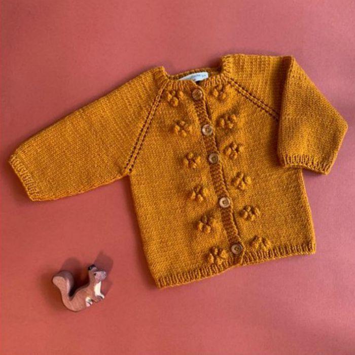 Kit tricot Gilet Joséphine - Mamy Factory X Mademoiselle Quincampoix