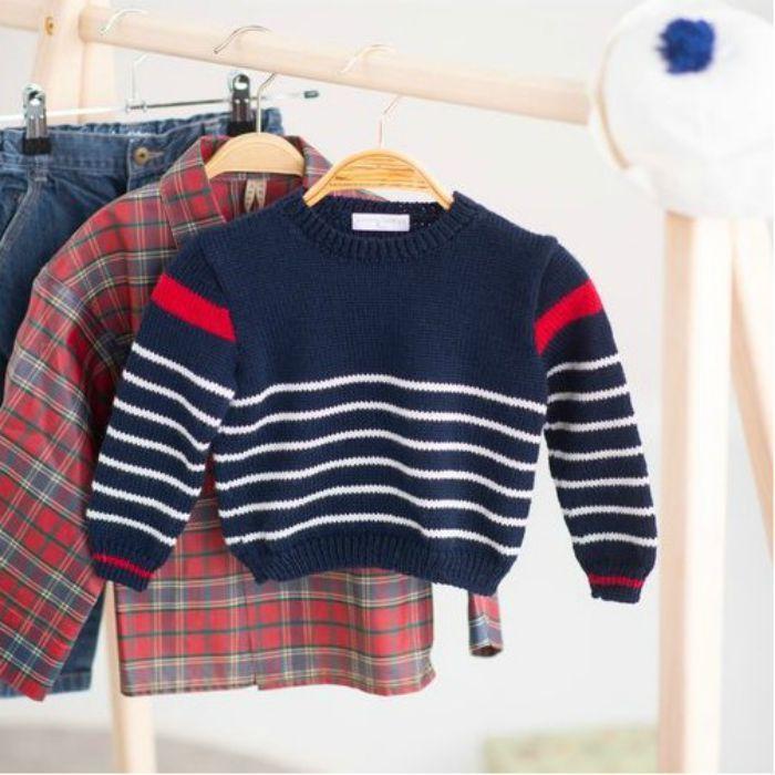 Kit tricot Marinière Raphael - Mamy Factory