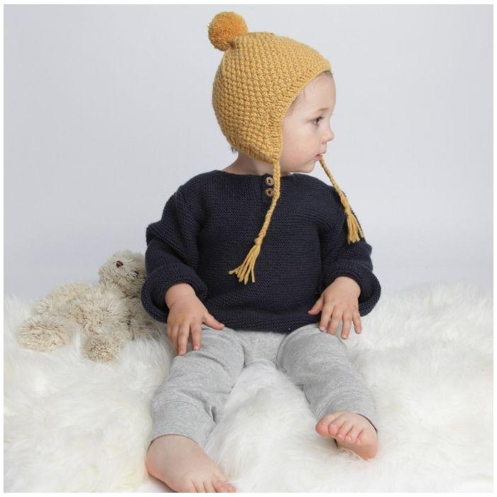 Kit tricot Bonnet péruvien Emile - Mamy Factory