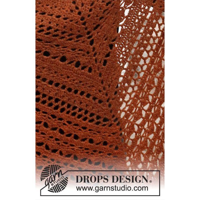 Kit crochet châle Autumn Ballad - DROPS Design