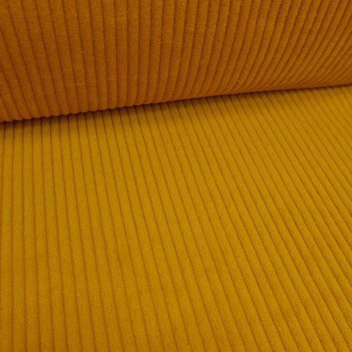 Tissu velours côtelé - moutarde x 10 cm