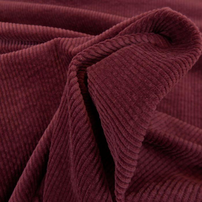Tissu velours côtelé - prune x 10 cm