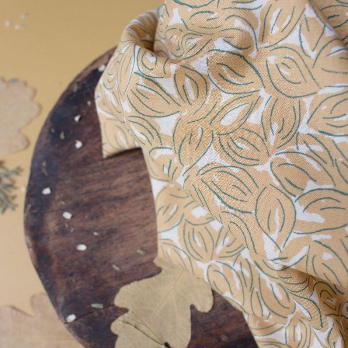Tissu Petal Mustard - Atelier Brunette x 10 cm