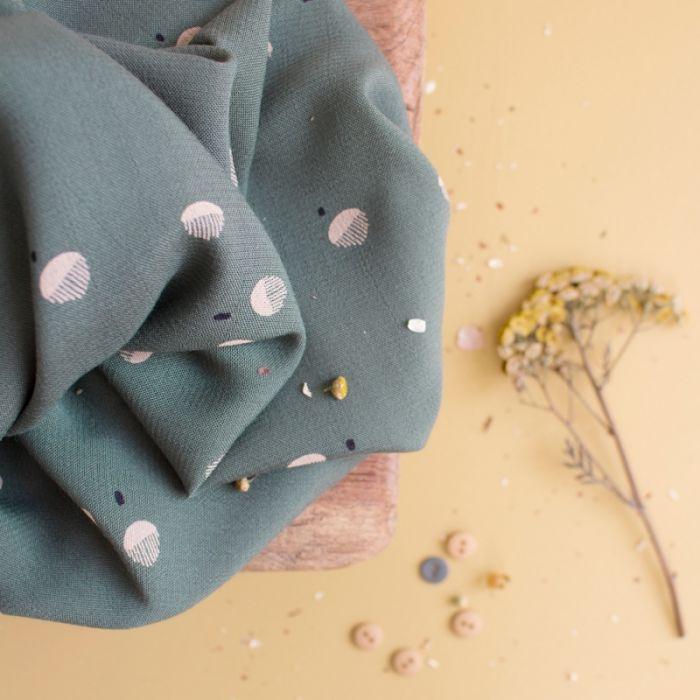 Tissu viscose Seed Cedar - Atelier Brunette x 10 cm