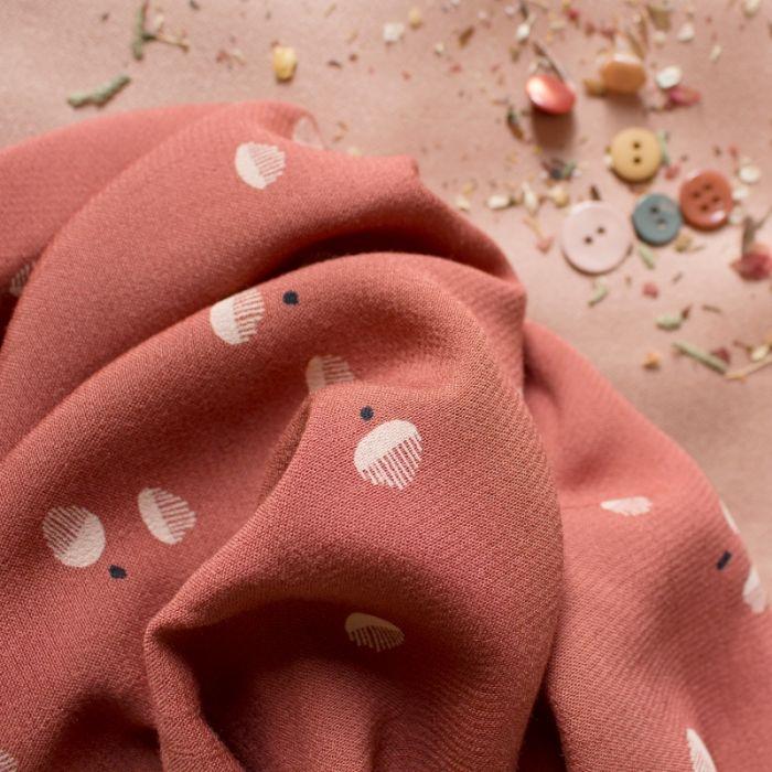 Tissu viscose Seed Chestnut - Atelier Brunette x 10 cm