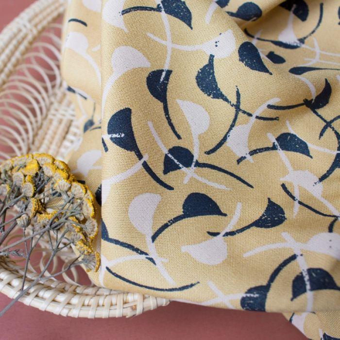 Tissu viscose Windy Mustard - Atelier Brunette x 10 cm