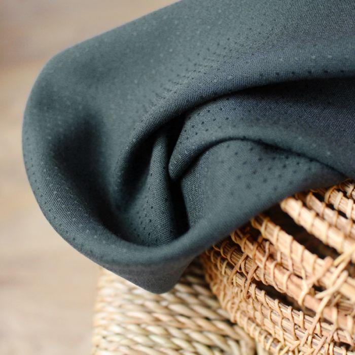Tissu Dobby Smokey - Atelier Brunette x 10 cm