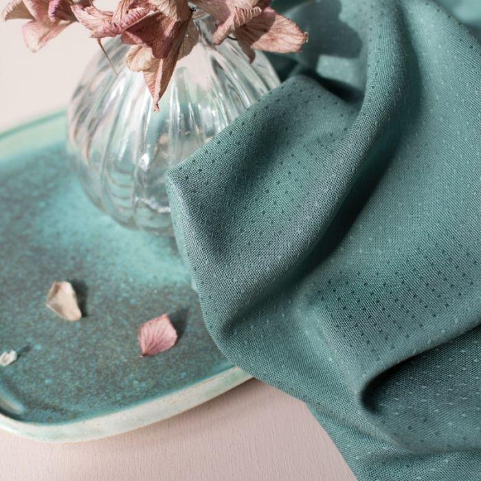 Tissu Dobby Cactus - Atelier Brunette x 10 cm