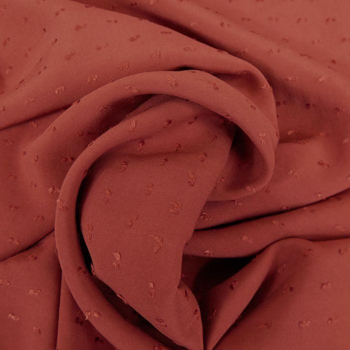 Tissu viscose plumetis - terracotta x 10 cm