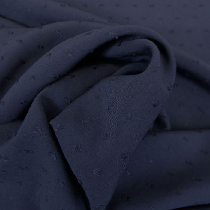 Tissu viscose plumetis - navy x 10 cm