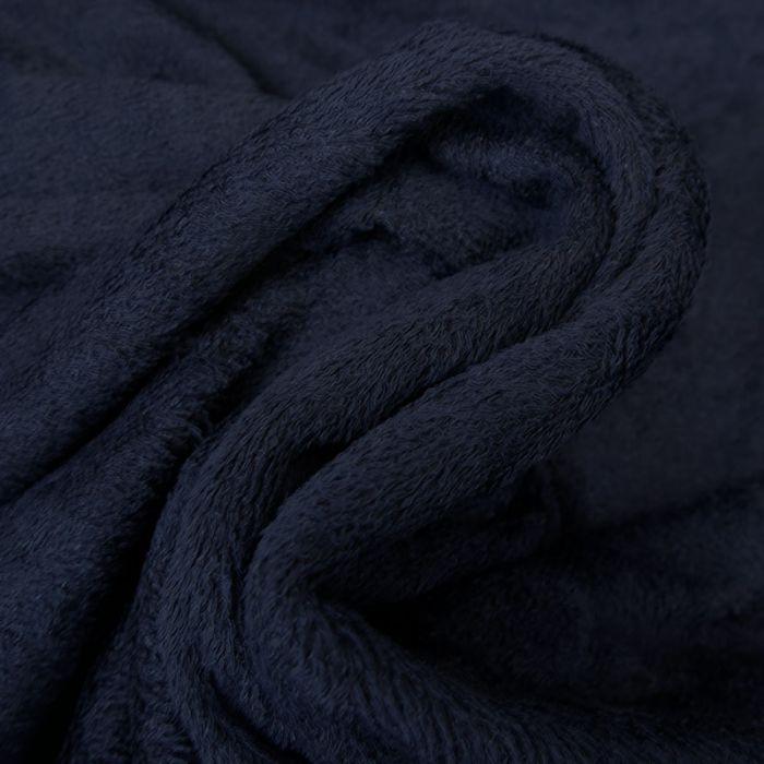 Tissu éponge bambou Oeko-Tex - bleu marine x 10 cm