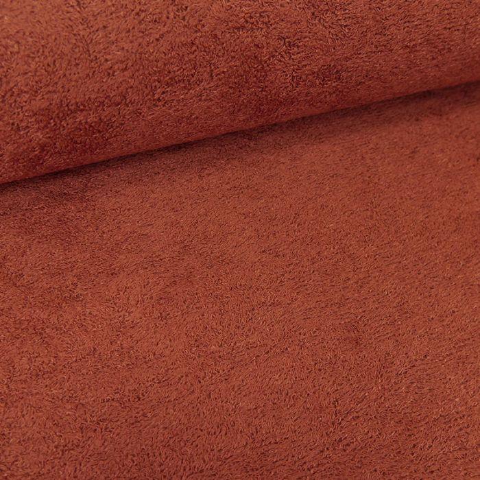 Tissu éponge bambou Oeko-Tex - terracotta x 10 cm